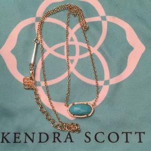 Kendra Scott Elisa gold and turquoise necklace